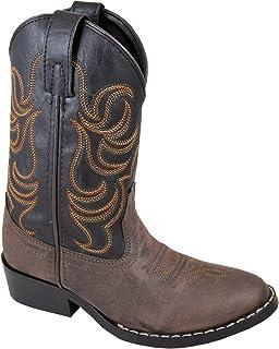 Smoky Mountain Boys' Snake Print Cowboy Boot Round Toe