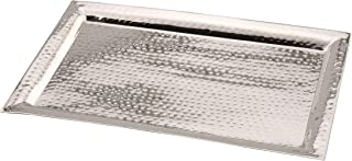 James Scott Stainless Steel Serving Tray 11 by 16 inch (Tray Hammered, 11X16)
