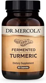 Dr. Mercola Organic Fermented Turmeric Dietary Supplement, 30 Servings (60 Capsules), Non GMO, Gluten Free, Soy Free