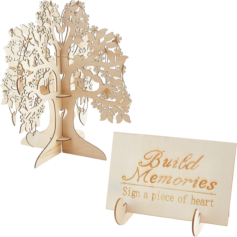 GORGECRAFT Wedding Guest Book Alternative Wooden 3D 5% OFF Wishing Tree Sale Special Price
