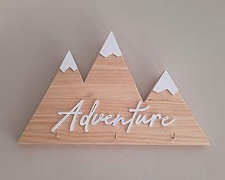 Portallaves de madera con forma de montañas