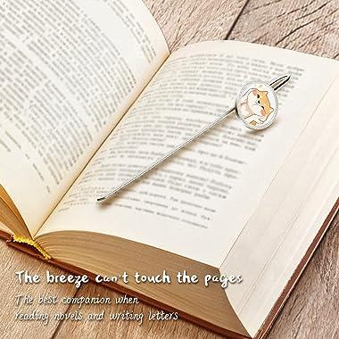 Metal Bookmark,Kawaii Shiba Inu Creative Bookmarks Page Holder for Students Teachers Graduation Gifts School Office Supplies