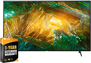 Sony XBR49X800H 49 inch X800H 4K Ultra HD LED Smart TV 2020 Model Bundle with Extended Care Package