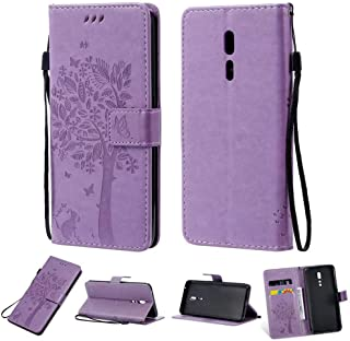 Oppo Reno Z Cover Leather,Hllycr Stand for Oppo Reno Z Wallet Case with Strap Flip Folio with ID&Credit Card Pockets - Lig...