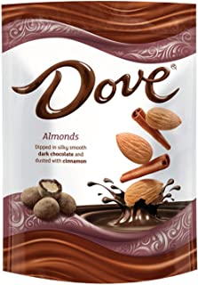 DOVE Almonds With Cinnamon and Dark Chocolate Candy 5.5-Ounce Bag (8 Count)