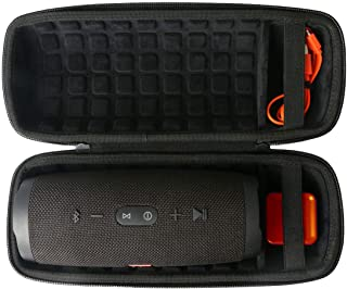 co2crea Hard Travel Case for JBL Charge 4 Waterproof Bluetooth Speaker (Black Case)