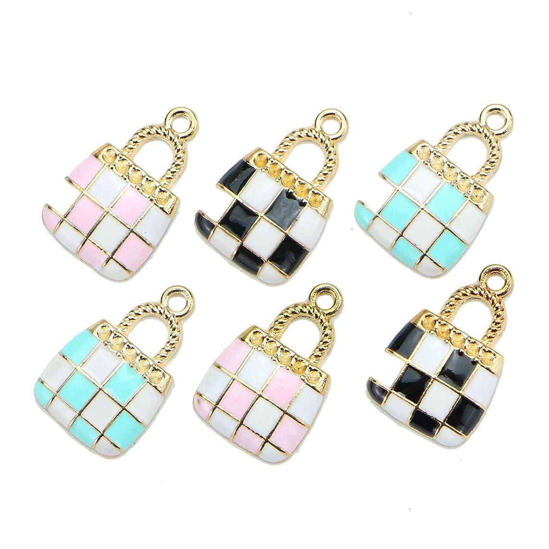 Monrocco 15pcs Handbags Bag Charms Purse Charms Pendants for Bracelet Jewelry Making DIY 21x13mm