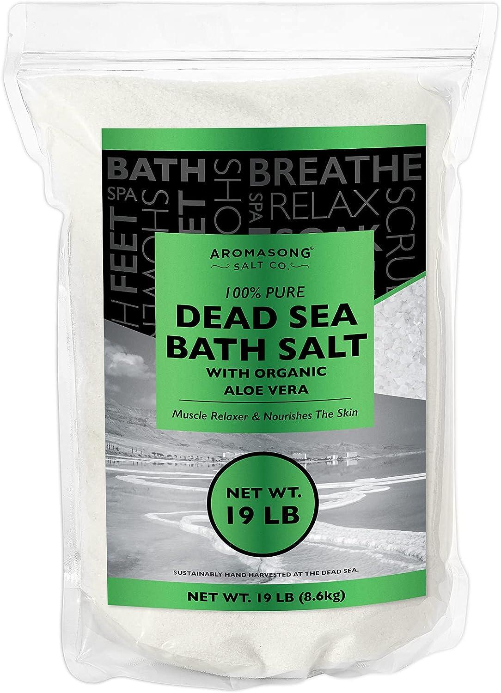 Dead Sea salt With ORGANIC ALOE VERA bath 1 year warranty Animer and price revision Fin 19 salts Lbs Spa