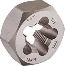 Irwin Tools 7404 Irwin High Carbon Steel Re-Threading Hexagon Taper Pipe Dies - Die 3/8-18NPT Hrt Hanson