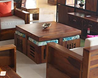 Cizen Traditional Coffee Table (Wood,Matte Polished Finish)
