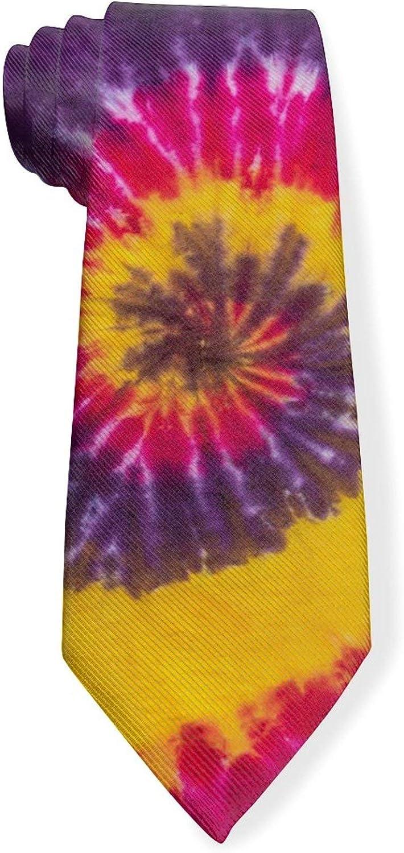 Psychedelic Tie Dye Mens Classic Color Slim Tie, Men's Neckties, Fashion Boys Cravats