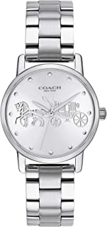 Coach WOMEN'S SILVER WHITE DIAL STAINLESS STEEL WATCH - 14502975