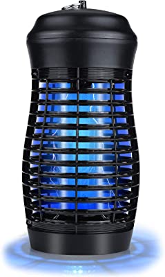 Garsum Electric Bug Zapper Powerful Mosquito Zappers Insect Killer Lamp Fly Trap Mosquito Attractant Trap for Indoor & Outdoor Use