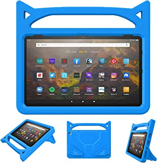 All-New Fire HD 10 Kids Case (11th Generation, 2021 Release), Grand Sky Lightweight Shockproof Kids Friendly Case with Sta...