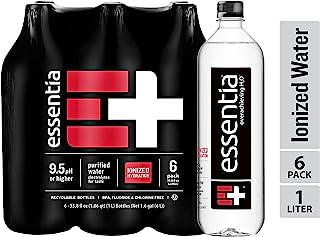 Essentia, agua alcalina ionizada, 1 L (paquete de 6)