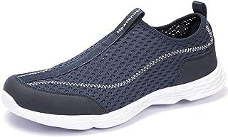 Ranberone Hommes Chaussures d'eau Légères Respirant Maille Baskets Décontractées Comfy Sandales D'été pour Aqua Sport Walk...