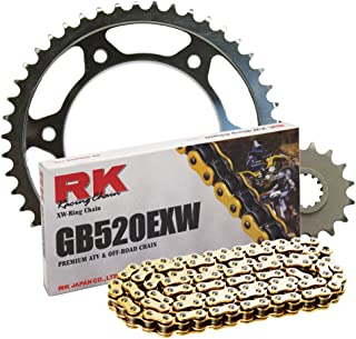 RK Racing Chain 4142-068SG Steel Rear Sprocket and GB520EXW Chain Steel Race Kit