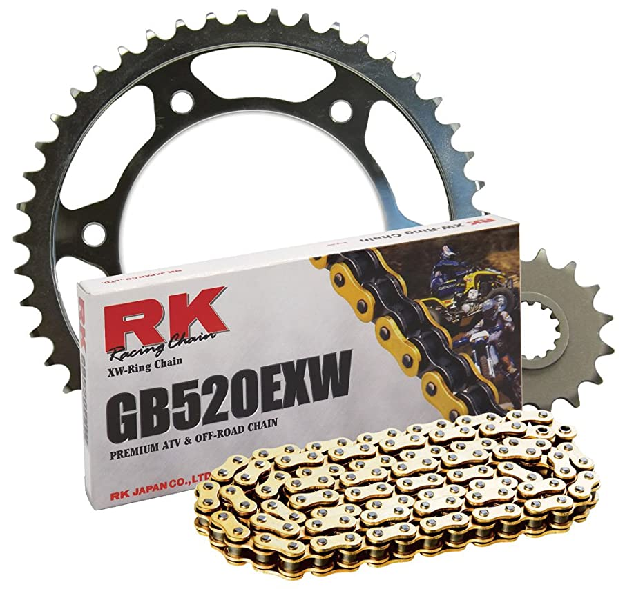 RK Racing Chain 1044-060SG Steel Rear Sprocket and GB520EXW Chain OE Replacement Kit