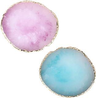 2 STUKS Hars Nail Art Palette, Cosmetic Artist Mixing Palette, Polish Holder Drawing Color Palette, Nail Art Painting Gel ...