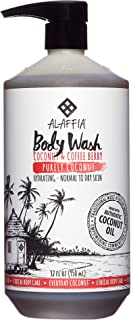 Alaffia - Everyday Coconut Body Wash, Normal to Dry Skin, Helps Gently Moisturize and Cleanse Toxins and Grime with Coffee Berry and Coconut Oil, Fair Trade, Coconut and Coffee Berry, 32 Ounces