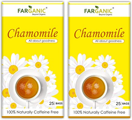 Farganic Buy 1 GET 1 Chamomile Tea Bag ( Naturally Caffeine Free) 50 Tea Bags