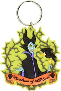 Disney Villains Maleficent Soft Touch PVC Keychain Key Ring, One Size, Multi Color