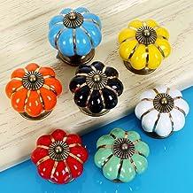 Keramische handgrepen en handvat pompoen vorm Pull kast deur mooie kindermeubels lade kast hardware porselein handgrepen