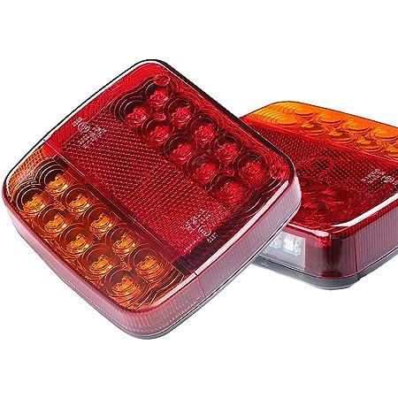 UA7 Coppia di fari posteriori Shop Import colore rosso e bianco LED
