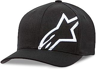 Alpinestars Men's Curved Bill Structured Crown Flex Back 3D Embroidered Logo Flexfit Hat, Corp Shift 2