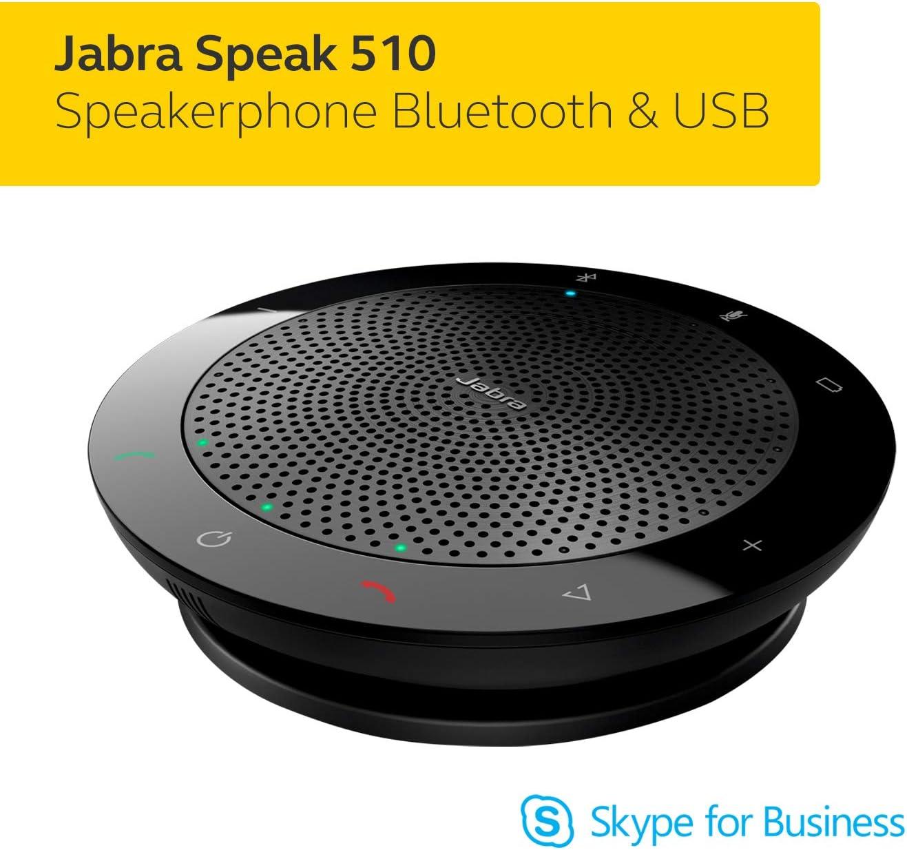 Jabra Speak 750 Haut Parleur Enceinte Portable Certifi/ée Microsoft Teams avec Adaptateur Bluetooth et USB Compatible avec Ordinateurs Portables Smartphones et Tablettes