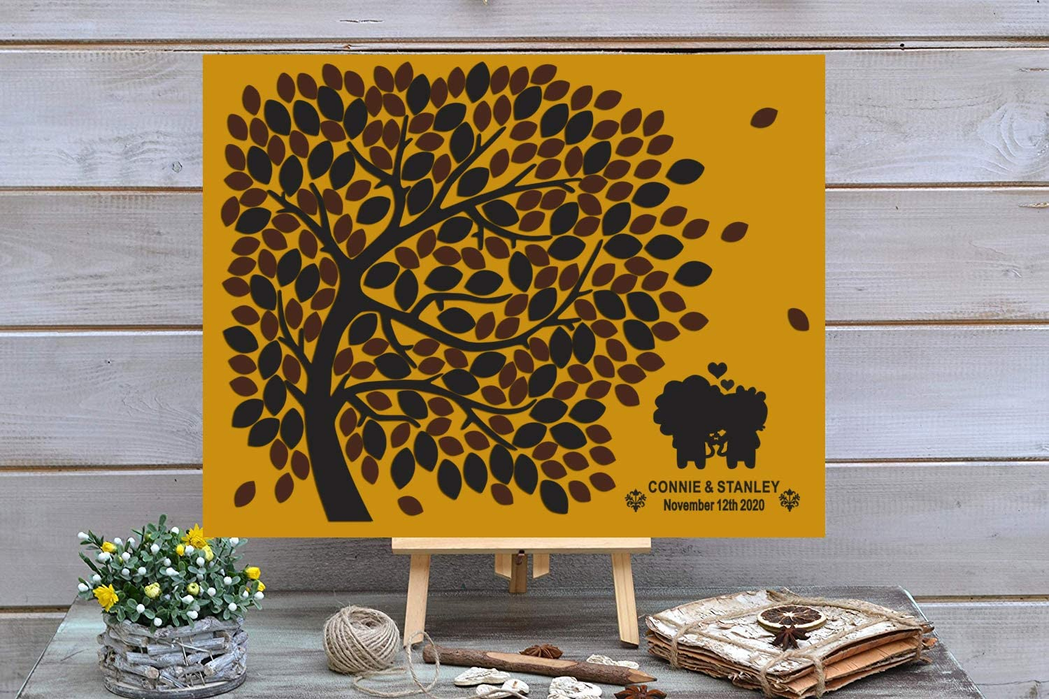 Bargain sale 3D Today's only Love Tree Wedding Guest Book Nam Custom Initial Alternative -