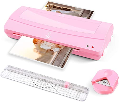 Thermal Laminator Machine, 12 inches Wide (A3 A4 A6), Never Jam Technology, with Paper Trimmer, Corner Rounder, 2 Rol...