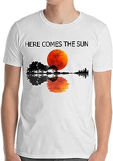 Harvey Martin Here Comes The Sun Guitar Shadow Sunset T-Shirt