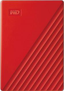 Western Digital WD My Passport externe Festplatte 4 TB (mobiler Speicher, schlankes Design, WD Discovery Software, automatische Backups, Passwortschutz) Rot   auch kompatibel mit PC, Xbox und PS4