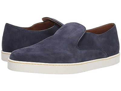 John Lobb Haven Suede Slip-On Sneaker (Navy) Men