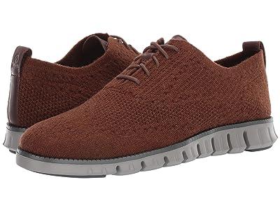 Cole Haan Zerogrand Stitchlite Wool Oxford (CH Java Wool Knit/Rock Ridge/Magnet) Men