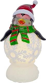Transpac Imports Penguin LED Light Up 9 x 5 Acrylic Globe Holiday Figurine