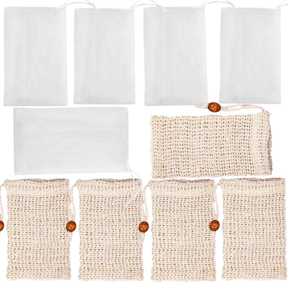 Sale SALE% OFF Qtopun 10 Pack Soap Bag 5 and Mesh Pouch PCs online shop Pcs Natural