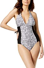 Calvin Klein Side-Pleated Halter One-Piece Women's Swimsuit