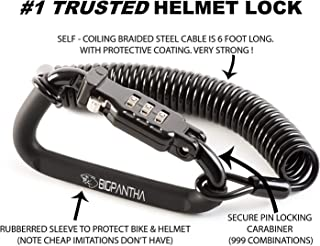 motorcycle helmet locks and cables