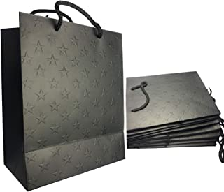 Valuxe 12pcs Black, Star Printed Bronzing Paper Party Bags, Gifts Wrapping Bags, Kraft Paper Bag Bride, Birthday Gift Bag ...