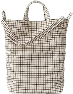 Duck Bag Canvas Tote, Essential Tote, Spacious and Roomy, Natural Grid