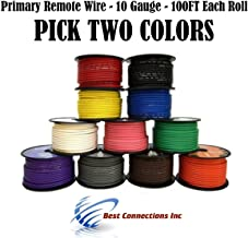 10 GA GAUGE 100 FT SPOOLS PRIMARY AUTO REMOTE POWER GROUND WIRE CABLE (2 ROLLS)