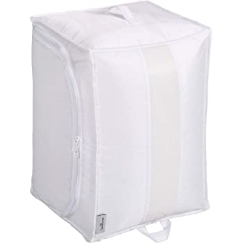東和産業 ふとん収納袋 washuno丈夫な洗えるふとん収納 1個入 ホワイト 約36×35×50cm