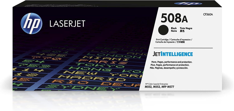 HP 508A | CF360A | Toner-Cartridge | Black | Works with HP Color LaserJet Enterprise M553 series, M577 series