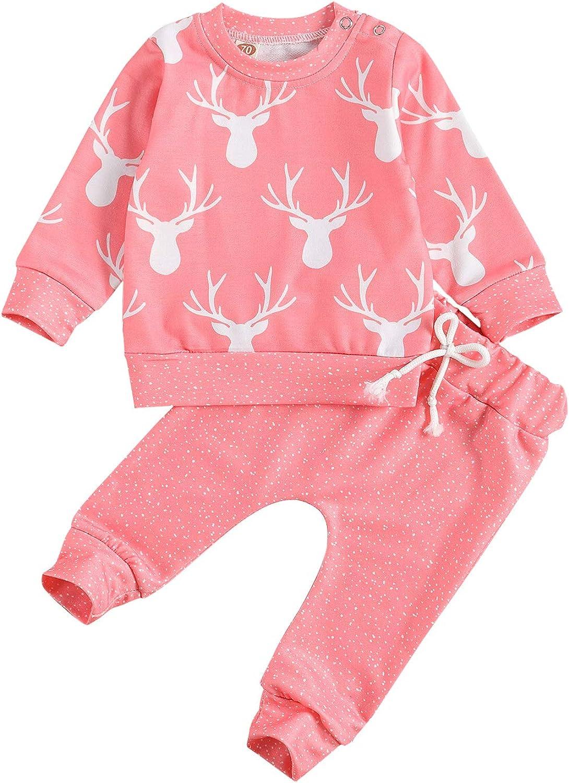 Unisex Baby Boy Girls Very popular! Christmas OFFicial store Pajamas Cute Pull Set Print Deer