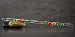Hall Crystal Flute 11015 - Inline Glass Piccolo in D - Rose/Green