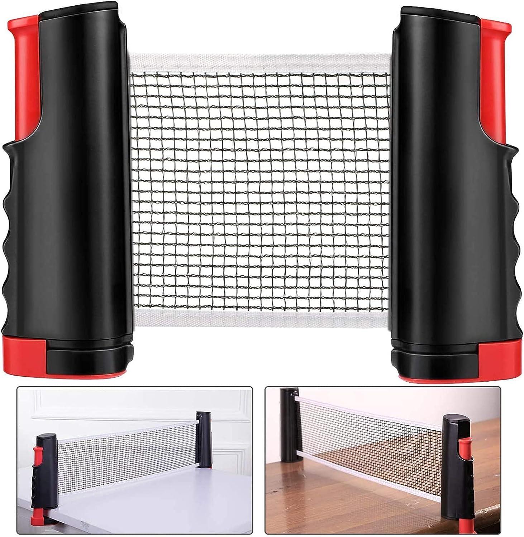 OUUUKL Red de Tenis de Mesa, Telescópica Ping Pong Net, Red de Ping Pong Longitud Ajustable 170 (MAX) x 15cm para Todas Las Mesas Tenis Mesa Al Aire Libre en Interiores
