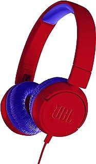 JBL JR300 子供向け ヘッドホン 音量制御機能搭載/カスタマイズシール付属 レッド/ブルー JBLJR300RED 【国内正規品/メーカー1年保証付き】