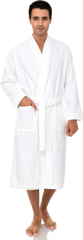 TowelSelections Men's Robe, Turkish Cotton Terry Kimono Bathrobe at  Men's Clothing store